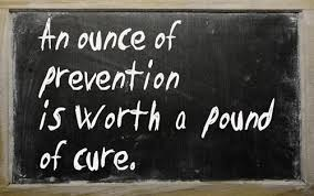 once of prevention